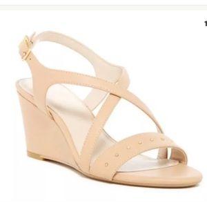 Calvin Klein Pamilla Wedge Sandal, Sand Storm